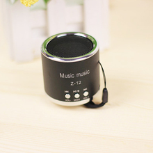 Hot sellering Mini Metal Portable Column Speaker Music Box Mp3 Player Loudspeakers Subwoofer Boombox Support TF Card Udisk