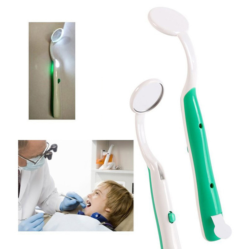 1 PC 4 Colors Oral Dental Teeth Checking Mirror With LED Light 23mm Bright Mouth Mirror Illuminated Tooth Care Accessories