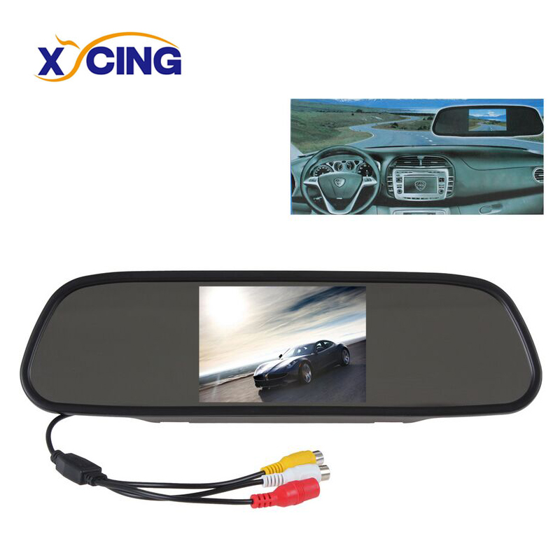 480 Car Rear View Mirror Monitor For Parking Reverse Camera 5 Inch TFT LCD 800