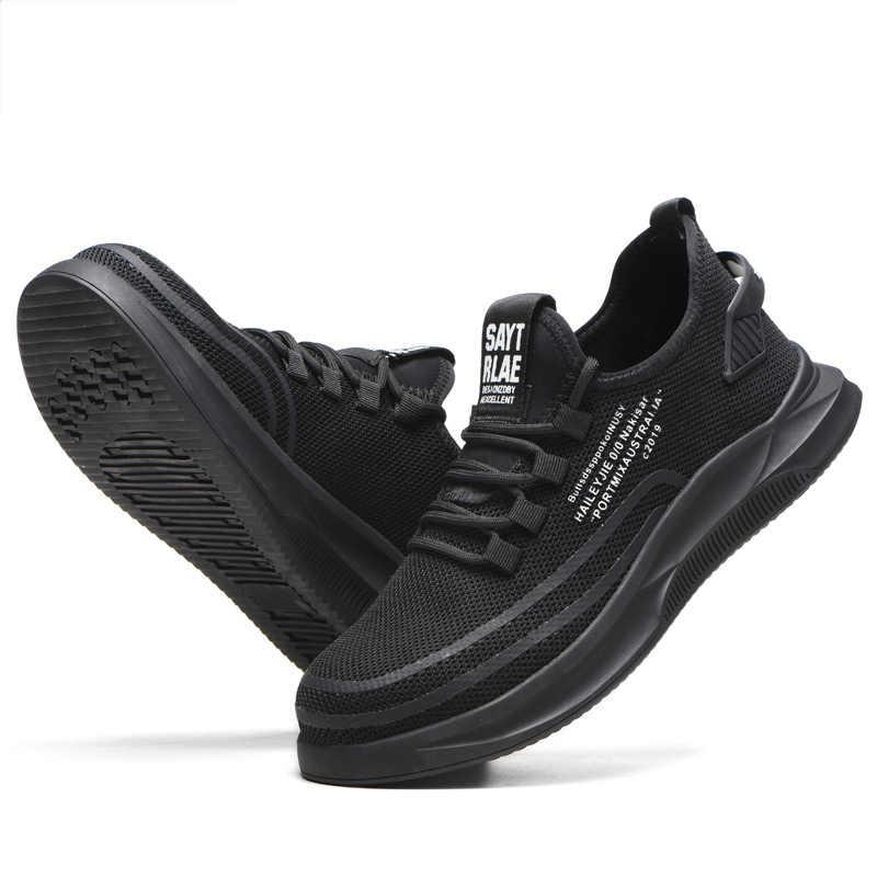 Indestructibl Güvenlik iş ayakkabısı Botları Erkekler ve Kadınlar Çelik ayak Hafif Nefes Delinme Geçirmez Yumuşak Rahat Spor Ayakkabı