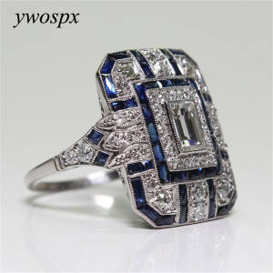 YWOSPX Silver Rings for Women Jewelry Wedding Engagement