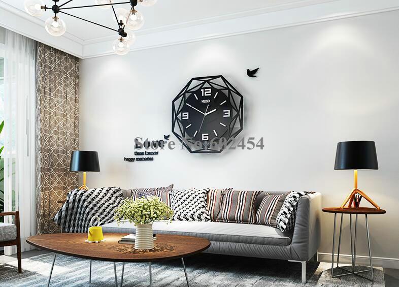 European Clock Wall Clock Living Room Modern Minimalist