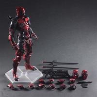 Deadpool Play Arts Kai PVC Action Figure Toy Wade Winston Wilson X Mannen X-MEN PVC 260mm Playarts Kai Pop speelgoed