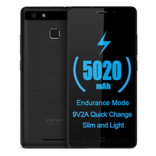 Vernee Thor E 5,0 Zoll HD IPS 4G Handy 5020 mAh 9V2A schnelle Lade Smartphone Android 7.0 Octa-core 3 GB RAM 16 GB ROM Metall