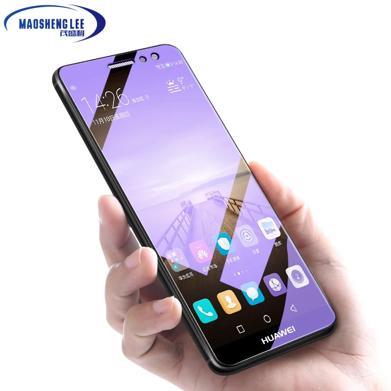 Image 2 - 2Pcs/lot Full Tempered Glass For Huawei Mate 9 Screen Protector Glass 0.26mm 9H Explosion proof Glass film for huawei mate 9-in Phone Screen Protectors from Cellphones & Telecommunications on