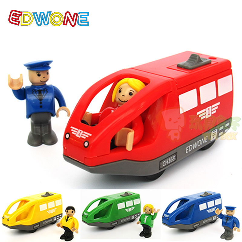 EDWONE 11*5.5CM 4 Color Kids Electric Train Toys Birthday Gi