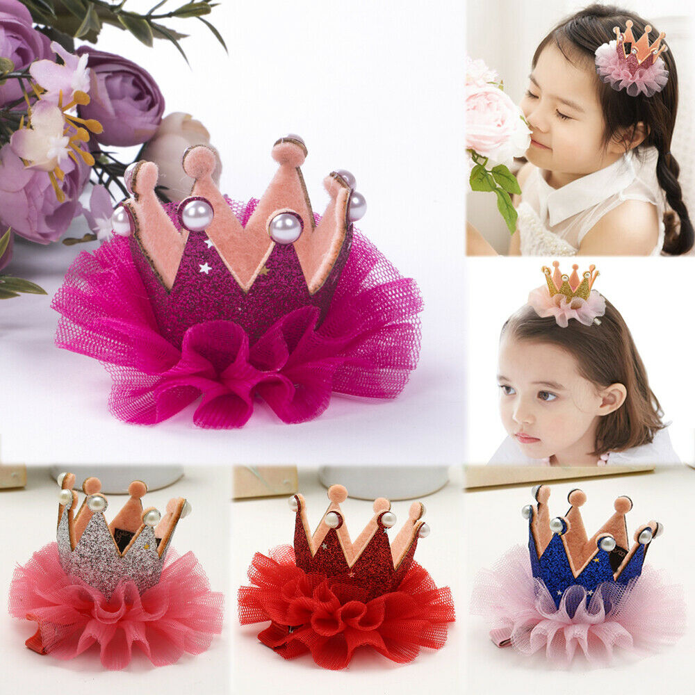 2019 Lovely Toddler Baby Girl Lace Hair Accessory Princess Crown Headband Elastic Hairpin Mesh Barrettes Headwear