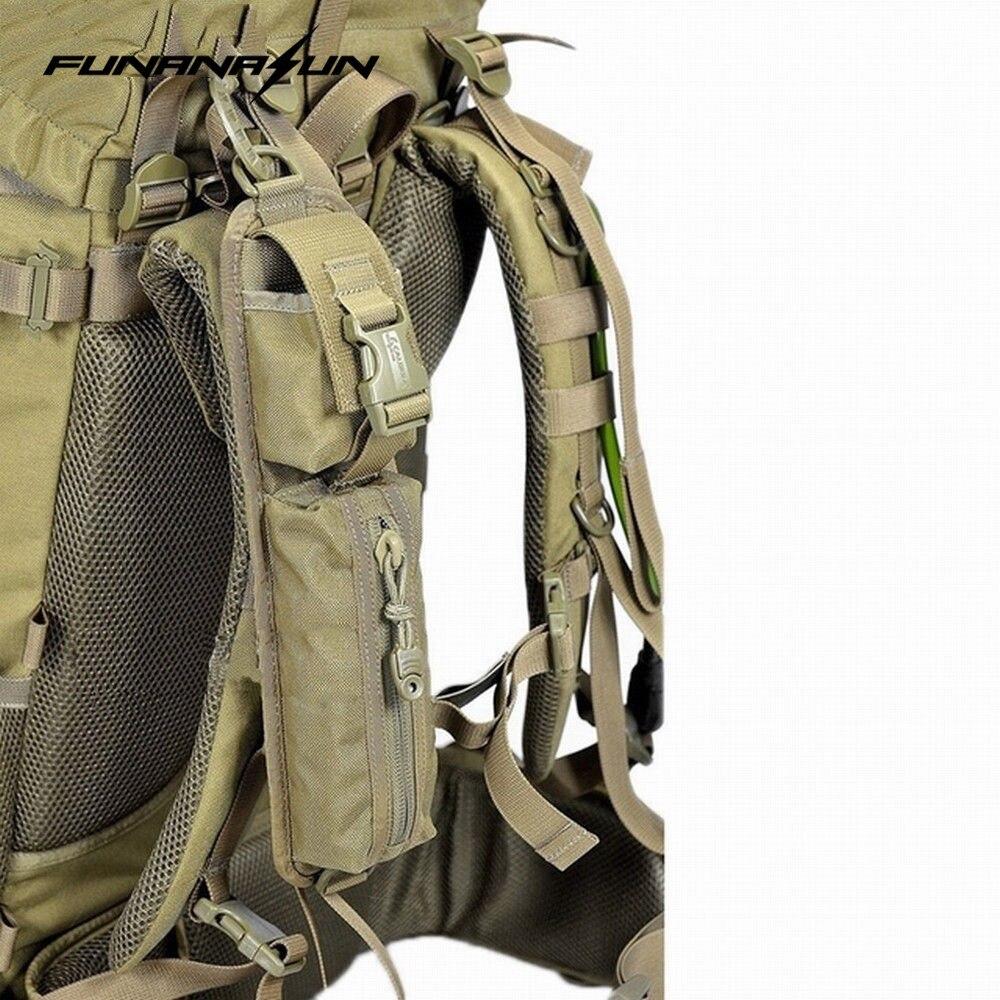 Táctico Molle Camping EDC herramienta bolsa compacta Quick Rapid linterna solo hombro Correa bolsa varios accesorios paquete