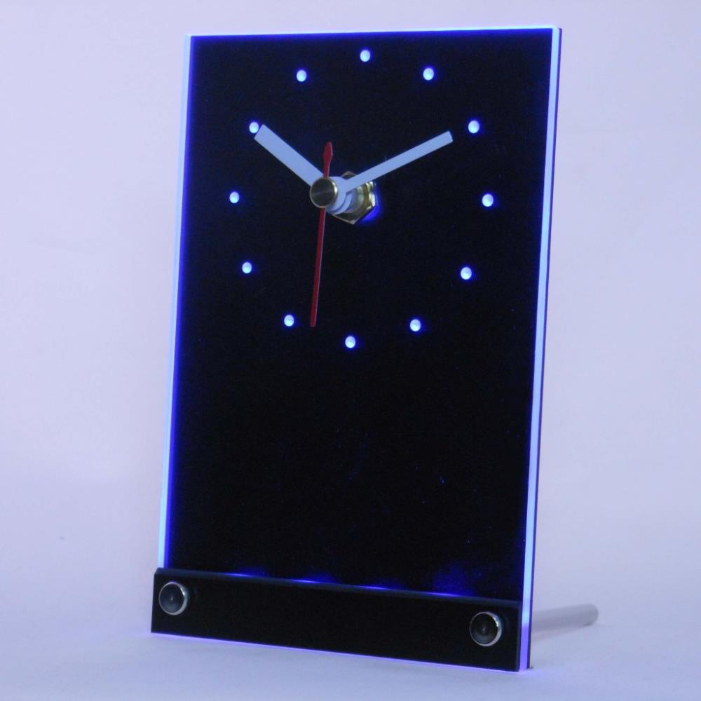 tnc0025 Welcome Its Miller Time Beer OPEN Table Desk 3D LED Clock