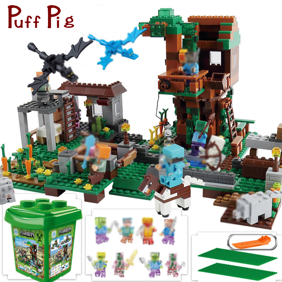 900PCS My World Village Building Blocks Castle Kids Toys Gift Compatible Legoe Minecrafted City Building Blocks For Boy Gift original new print head for epson l120 l210 l220 l300 l335 l350 l355 l365 l381 l455 l550 l555 l551 xp300 xp400 xp405 printhead