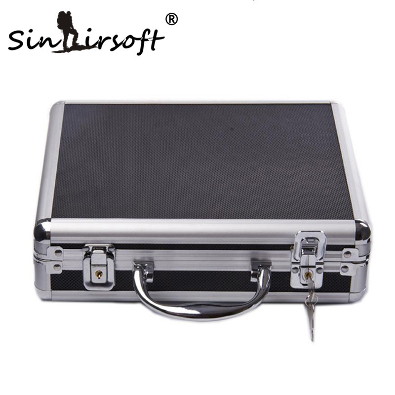 SINAIRSOFT high quality Aluminum alloy Tactical Hard Pistol Case Gun Case Padded Foam Lining for hunting airsoft black SA580 smalto часы smalto st4g001m0011 коллекция volterra page 3
