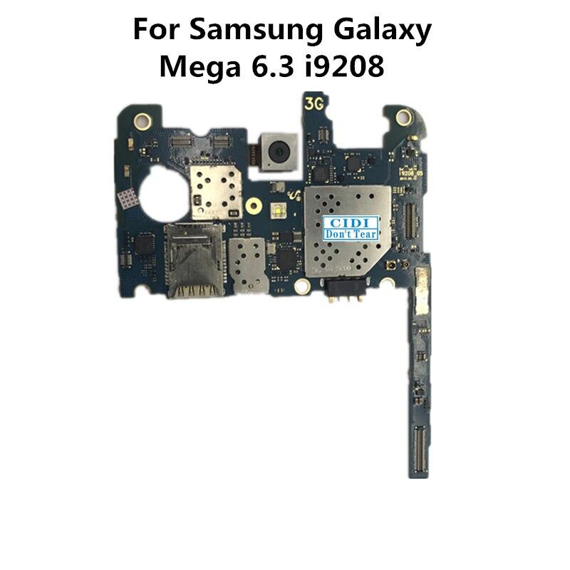Полный рабочий используется оригинальный доска для Samsung Galaxy Mega 6.3 i9208 Материнские платы логика материнской плате пластины