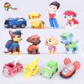 12pcs/set Canine Patrol Dog   Anime Doll Action Figures Car Patrol Puppy Toy Patrulla Canina Juguetes Gift for Child landscape