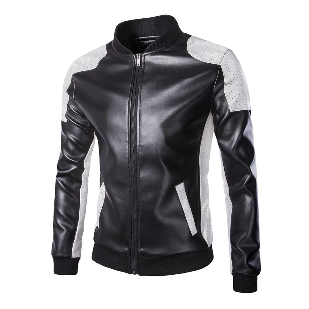 Herobiker Classical Motorcycle Jacket Men Vintage Retro Casual PU Leather Jacket Punk Windproof Biker Motorcycle Moto Jacket