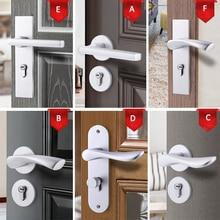 цена на American space aluminum Indoor handle lock Bedroom European antique wood door handle hardware locks