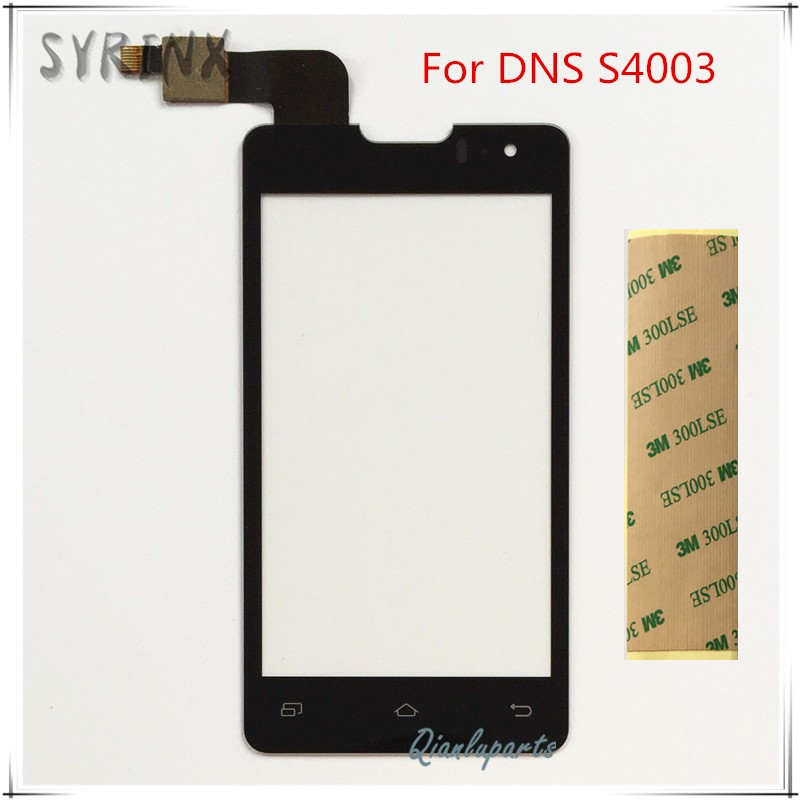 Syrinx With Tape External Screen Front Glass Panel Lens For DNS S4003 Innos I6s I3 Touch Screen Digitizer Sensor Touchscreen
