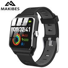 Makibes smartwatch br3 com gps, smartwatch de 17 tipos para homens, à prova d água ip68, dispositivo vestível, bluetooth, strava, rastreador de fitness, pulseira