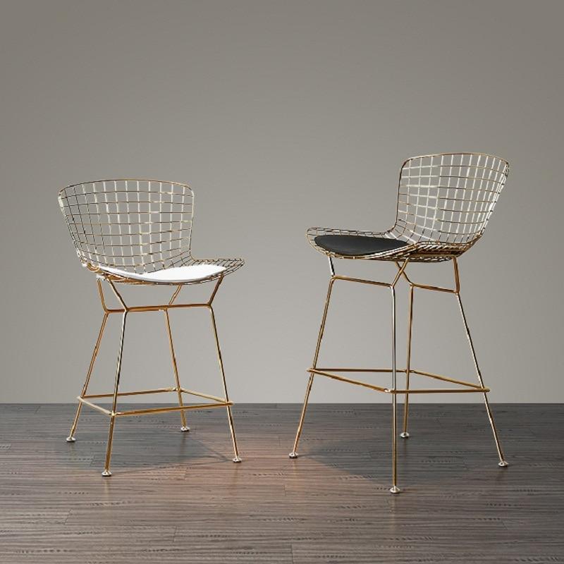 все цены на U-BEST Chrome bertoia bar stool diamand Metal 36 inch wire counter PU seat barstool