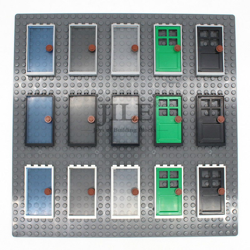 Moc House Home Door Frame 1 x 4 x 6 with Gate Leaf 60596 DIY Enlighten Building Block Bricks Compatible with Assembles Particles(China)