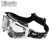 Adult Goggles Motorcycle ATV Eyewear Multicolor Frame Protective Gears Flexible Cross Country helmet goggle Motocross Glasses