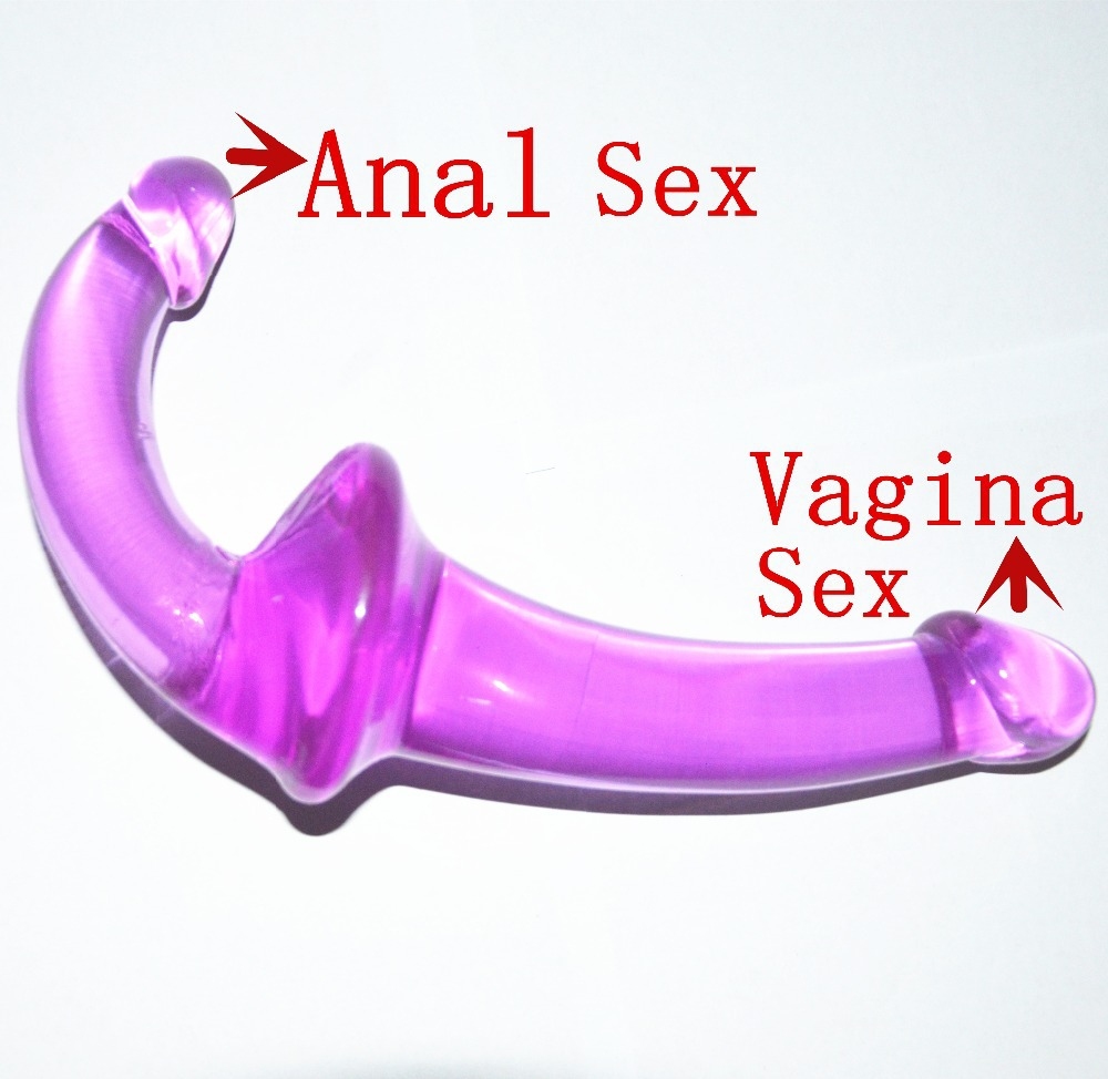 New Comes Double Scimitar Purple Double Dildo Woman Gays Sex Toys,Anal -5082
