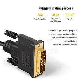 HD 1080P DVI папа к VGA Женский видео конвертер Кабель-адаптер DVI 24 + 1 25 Pin к VGA кабель для ТВ ПК Дисплей DVI-D к VGA
