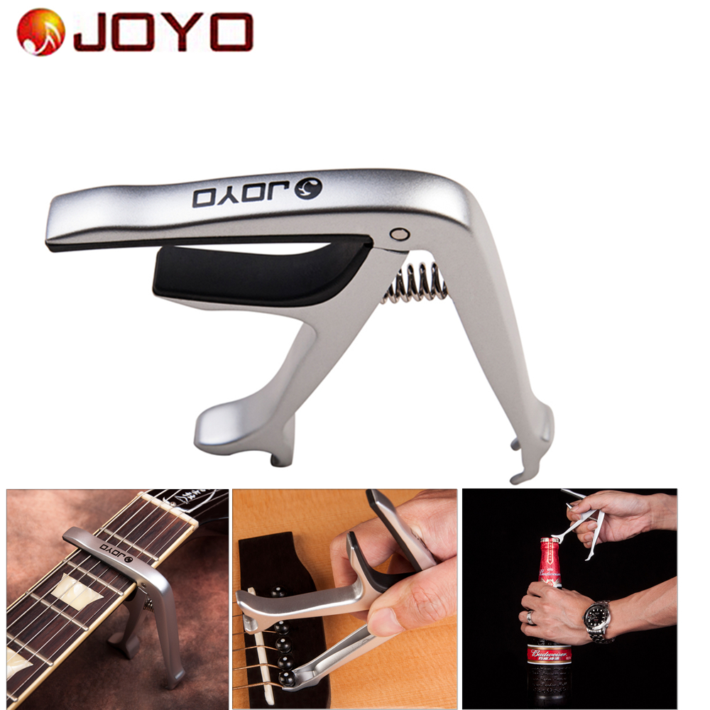 JOYO JCP-02 Alloy Metal Opener Guitar Capo Quick Change Guitar Turner Clamp Key for 6-String Acoustic  Electric Guitar Parts