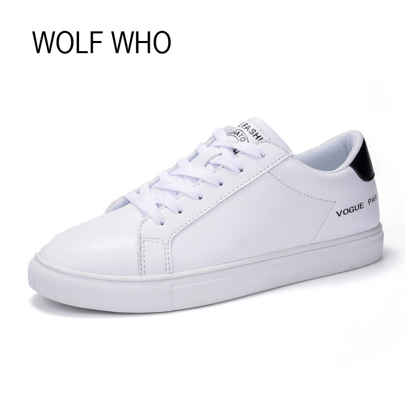 WOLF WHO Female Leather White Sneakers Women Superstar Shoes Ladies Fashion Flats Basket Femme Tenis Feminino Casual H-148 fashion women flats summer leather creepers platform sneakers causal shoes solid basket femme white black