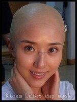 Hot 1 PCS Natural Head Latex Skin Head Monk Nun Bald Cap Wig Halloween Party Props