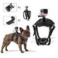 Собаки Жгут Грудь Крепление для Gopro hero 3 4 Go pro видеокамеры собака Домашних Животных Нагрудный ремень Крепление SJCAM SJ4000 Сяо yi камеры 33