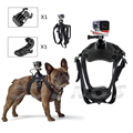 Dog Harness Chest Mount for Gopro hero 3 4 Go pro camcorder Hound Pets Chest strap belt Mount SJCAM SJ4000 Xiao yi camera 33