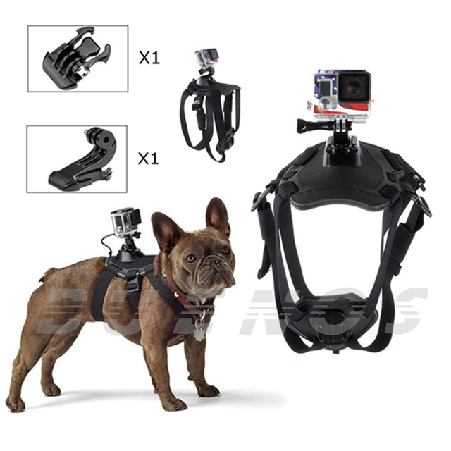 Dog Harness Chest Mount for Gopro hero 3 4 Go pro camcorder Hound Pets Chest strap belt Mount SJCAM SJ4000 Xiao yi camera 33