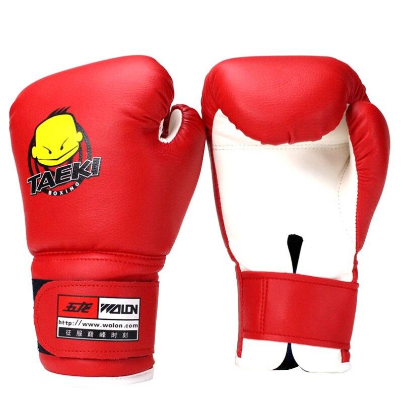 sport niño guantes de boxeo duradero pu cuero de dibujos animados