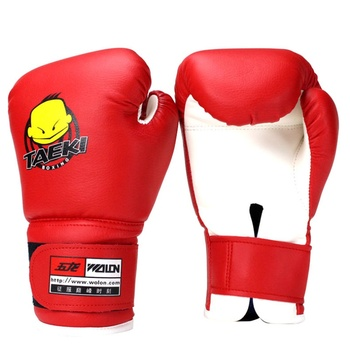 * Guantes deportivos de boxeo duraderos para niños, guantes de PU de cuero con dibujos animados, guantes de combate, guantes MMA de combate, puños de entrenamiento, bolso de arena tailandés