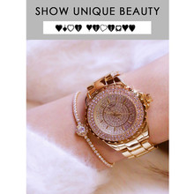 2019 Hot Quartz Movement Ladies Watch High-end Custom Full Rhinestone Alloy Material Female