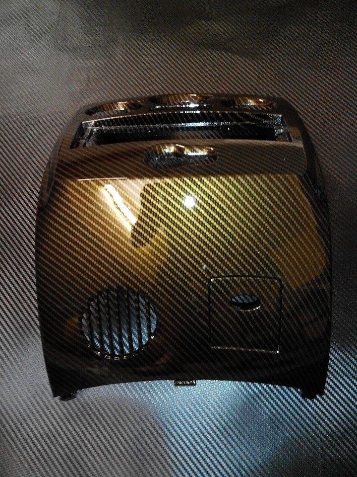 Gold 2D Glossy carbon fibre vinyl flat real glossy carbon fiber sheets water transfer film (3)