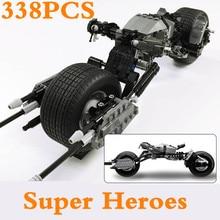 купить Legoings 7115 DC Super Heroes The Dark Knight Batman Batcycle Batmobile Bricks Batpod Building Blocks Toys For Children DBP450 по цене 1364.84 рублей