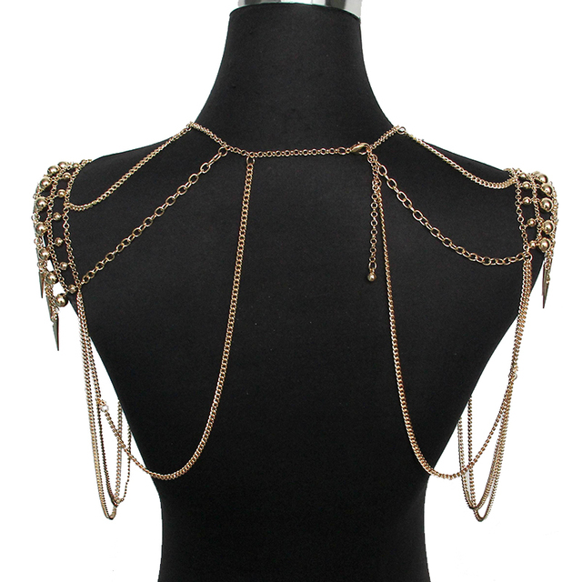 Shoulder Necklace Multi Layered Sexy Seabeach7