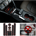 8 pcs/set For Audi A6 2005 2006 2007 2008 2009 2010 2011 gate slot mat Rubeer mat pad car stickers cover car accessories