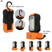 Light 16ft COB Multifunction 200lm LED Emergency 4 Portable Orange Casual 5V Flashlight 3W Work Light LED Flashlight Magnetic цена