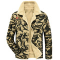 2017 de La Moda de Invierno chaquetas de Los Hombres de Alta calidad de Lana Gruesa Chaqueta Militar de Camuflaje Casual Hombres Abrigo jaqueta masculina