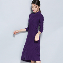 2018 new hot spring dress cashmere lady clothing long half quality cashmere sweater girls shirt slim wool knitted sweater dress