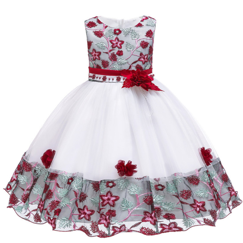 Embroidery Flower <font><b>girl</b></font> <font><b>dress</b></font> for Kids wedding Baby <font><b>Girl</b></font> <font><b>Dress</b></font> 3 4 <font><b>6</b></font> <font><b>7</b></font> 8 9 10 <font><b>Years</b></font> <font><b>birthday</b></font> Baby <font><b>Girls</b></font> <font><b>Birthday</b></font> <font><b>Dresses</b></font> Vestido image