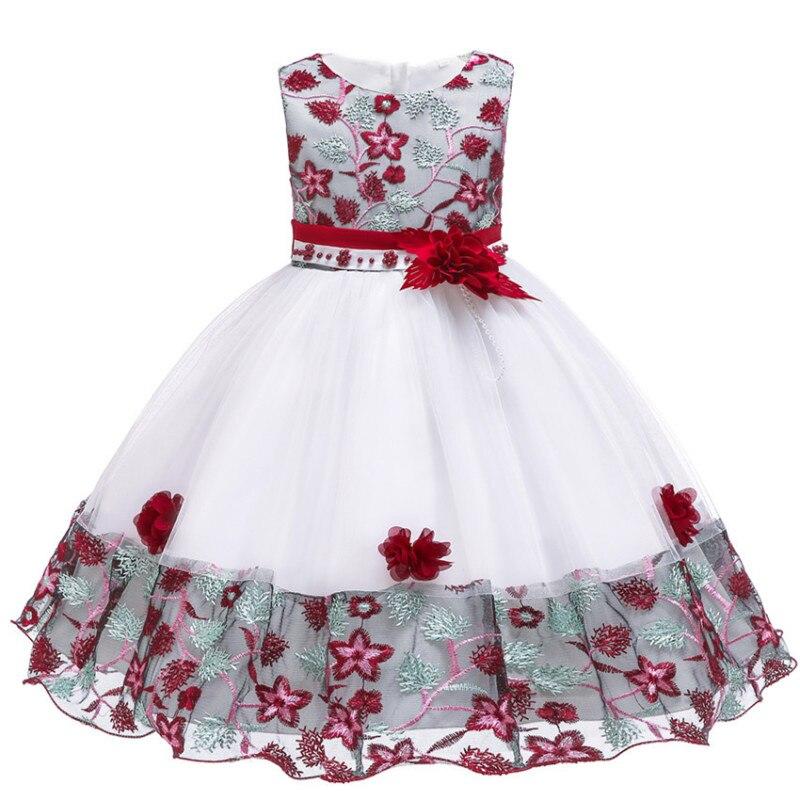 Embroidery   Flower     girl     dress   for Kids wedding Baby   Girl     Dress   3 4 6 7 8 9 10 Years birthday Baby   Girls   Birthday   Dresses   Vestido
