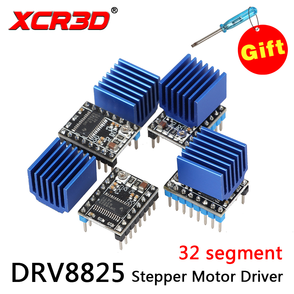 XCR3D Upgrade stable edition MKS DRV8825 Stepper Motor Driver 4-layer substrate ultra quiet driver Controll 32 Subdivisions