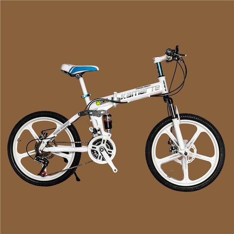 Vélos Bicicleta en acier VTT 20 pouces 21/24/27 vitesses vélos à double disque vélos à vitesse Variable VTT