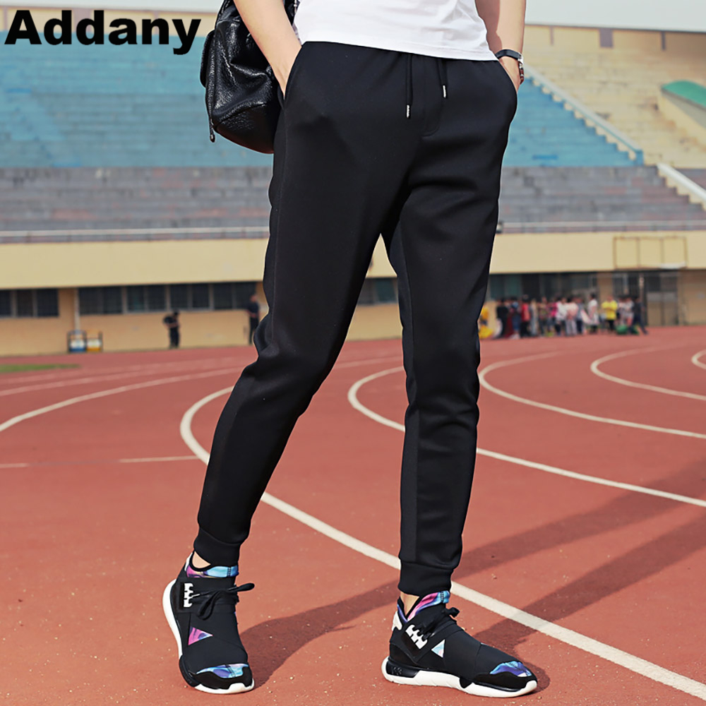 ADDANY 2018 Spring Summer Mens Pants Casual Elastic Waist Loose Long Trousers Fashion Male Sweatpants Cargos Joggers