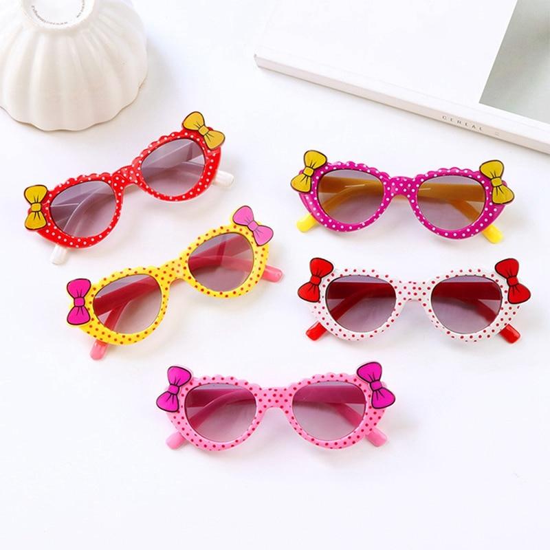 Hot 1Pc Girls Boys Sunglasses Toddler Eyewear Cartoon Bow Anti UV Eyeglasses Children Baby Kids