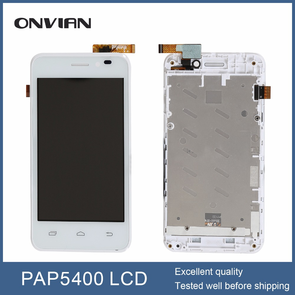 white for prestigio MultiPhone PAP 5400 DUO SmartPhone SmartPhone LCD Display Touch Screen digitizer Assembly With