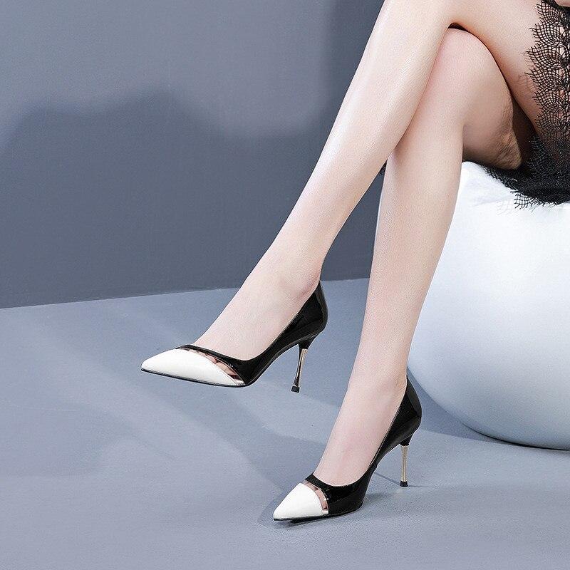 Dentro Nuevos Primavera Y Ljj Ol Negro De 2019 Zapatos Tacón Alto Otoño Cómodo 0406 Señaló qzwTRRZt